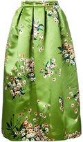 Rochas floral print full skirt
