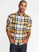 Old Navy Regular-Fit Built-In Flex Flannel Shirt for Men