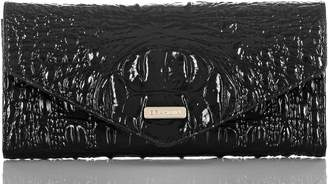 Brahmin Veronica Melbourne Croc Embossed Leather Envelope Wallet