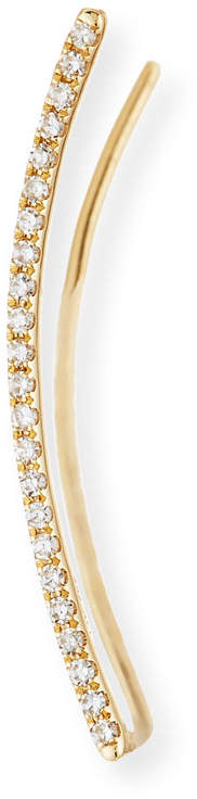 Ef Collection 14K Gold & Diamond Bar Cuff Earring - Left