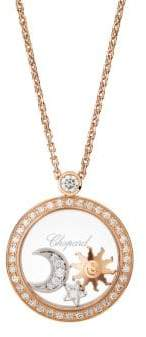 Chopard Happy Diamonds& 18K Rose Gold Pendant Necklace