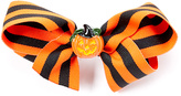 Beary Basics Orange & Black Stripe Pumpkin Hair Bow