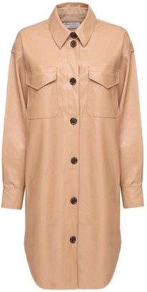 Designers Remix Marie Faux Leather Shirt Dress