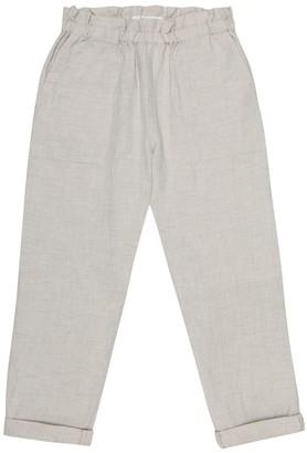 Bonpoint Nandy cotton-blend chambray pants