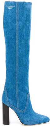 Philosophy di Lorenzo Serafini Denim Knee-High Boots