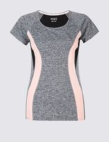 M&S Collection Colour Block Short Sleeve T-Shirt