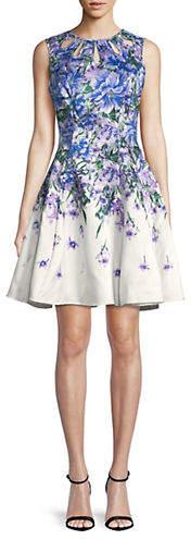 Gabby Skye Floral Sleeveless Dress