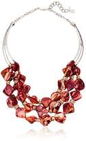 """Robert Lee Morris Wired Warrior"""" Organic Stone Multi-Row Necklace"""