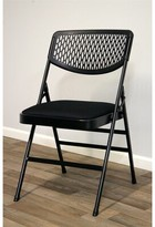 Cosco Home And Office Commercial Fabric Padded Folding Chair Home and Office Frame Color: Black