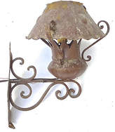 One Kings Lane Vintage Antique Iron Outdoor Sconce