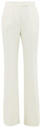 Gabriela Hearst Leda High-rise Flared Silk-crepe Trousers - Ivory