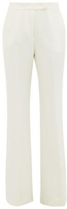 Gabriela Hearst Leda High-rise Flared Silk-crepe Trousers - Womens - Ivory
