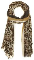 Vince Camuto Striped Cheetah Scarf