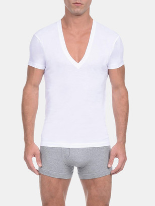 2xist Pima Cotton Slim-Fit Deep V-Neck