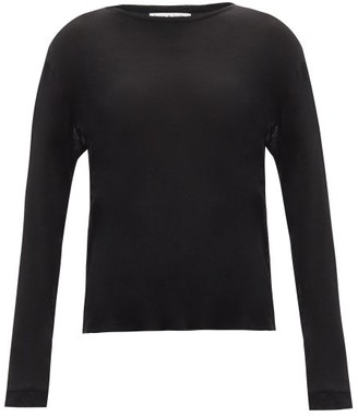 Frances De Lourdes - Marlon Round-neck Cashmere And Silk-blend T-shirt - Womens - Black