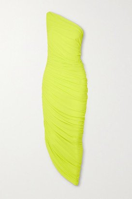 Norma Kamali Diana One-shoulder Stretch-jersey Midi Dress - Yellow