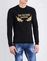 DSQUARED2 24-7 Star cotton-jersey sweatshirt