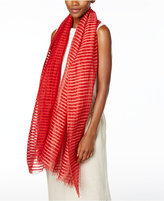 Eileen Fisher Organic Cotton-Linen-Blend Striped Scarf