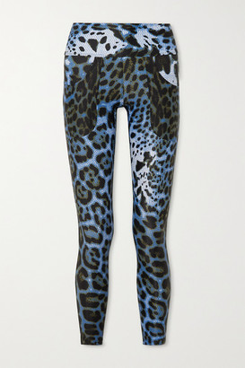 Twin Fantasy Leopard-print Stretch Leggings - Blue