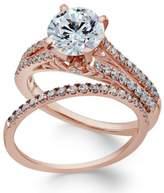 Macy's Certifiied Diamond Bridal Set (2 ct. t.w.) in 18k Rose Gold