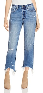 Pistola Denim Charlie Distressed Straight Jeans in Florence