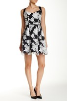 Aidan Mattox Floral V-Neck Dress 151A99140