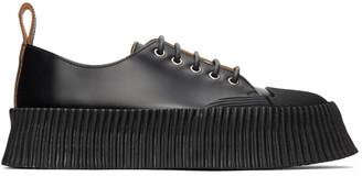 Jil Sander Black Vulcanized Rubber Sole Sneakers