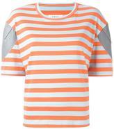 MM6 MAISON MARGIELA striped T-shirt - women - Cotton/Spandex/Elastane/Polyurethane/Viscose - XS