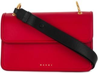 Marni contrast handle shoulder bag