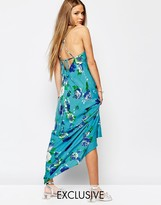 Reclaimed Vintage Tie Back Cami Maxi Dress In Floral Print