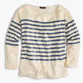 J.Crew Collection striped sequin shirt