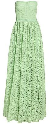 Jonathan Simkhai Strapless Lace Gown