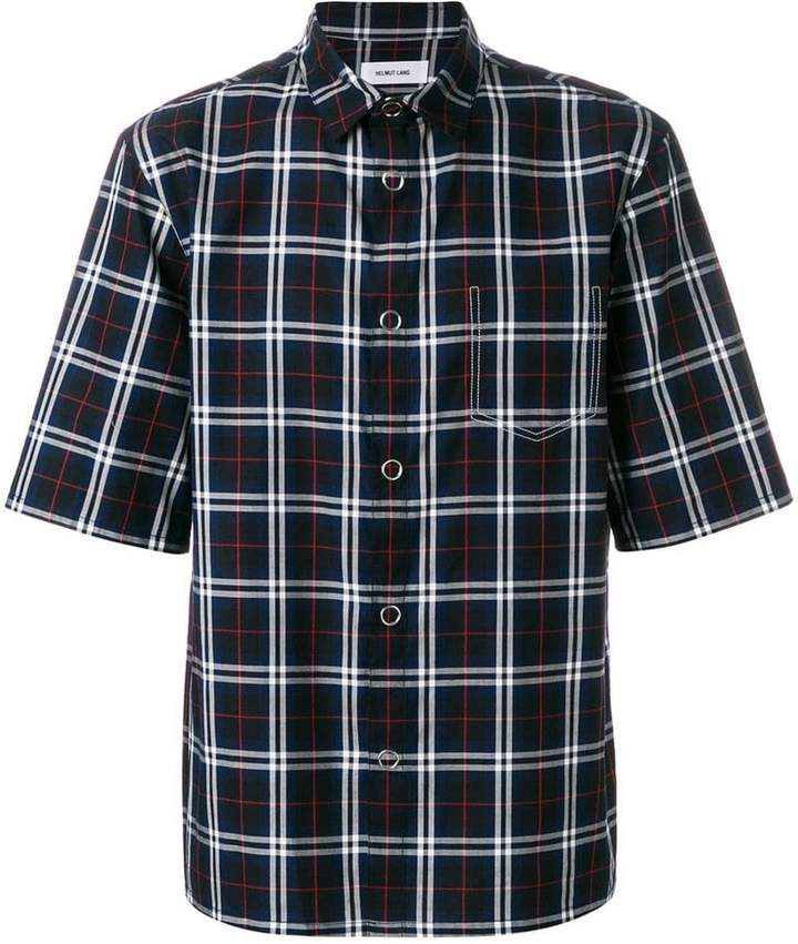 Helmut Lang plaid short sleeve shirt