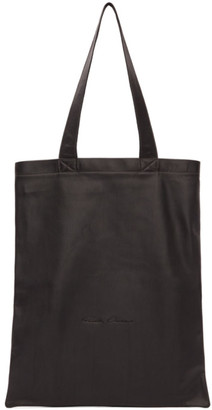 Rick Owens Black Leather Tote