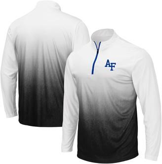 Colosseum Men's Gray Air Force Falcons Magic Team Logo Quarter-Zip Jacket