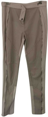 Willow Beige Leather Trousers for Women