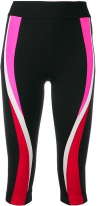 NO KA 'OI Stripe Detail Cropped Leggings