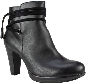 Rialto by White Mountain Platform Ankle Booties- Pennicott