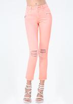 Bebe Zip Skinny Jeans