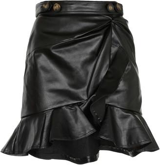 Self-Portrait Flounced Mini Skirt