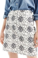 J.Crew Petite Women's Embroidered Floral Miniskirt