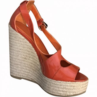 Burberry Orange Patent leather Sandals