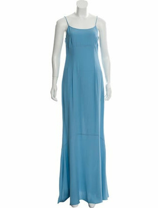 Jonathan Saunders Maxi Sleeveless Dress Blue