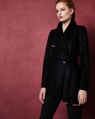 Ted Baker Short Wool Wrap Coat