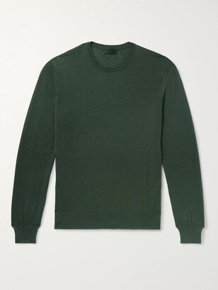 Charvet Cashmere and Silk-Blend Sweater - Men - Green