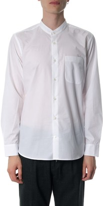 Mauro Grifoni Mandarin Collar White Cotton Shirt