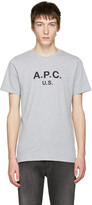 A.P.C. Grey Logo T-shirt