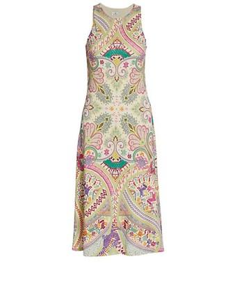 Etro Chio Sleeveless Printed Midi Dress