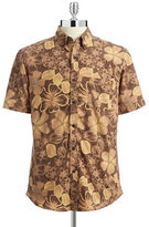 Black Brown 1826 Hudson North Printed Short Sleeve Shirt