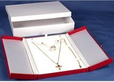 FindingKing Earring Ring Red Leather Combo Jewelry Gift Box Display